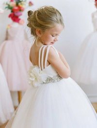 Flower Girl White Dress by Amalee